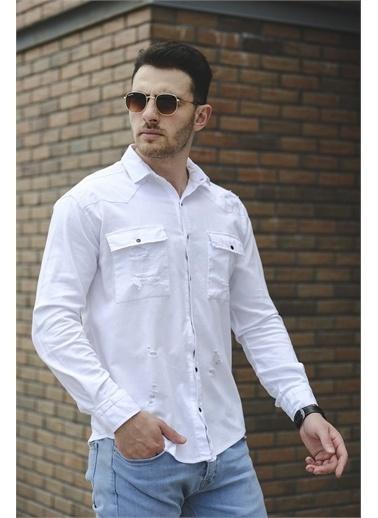 Oksit Gömlek Beyaz